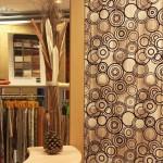 Detalle de papel de pared interior de Tapicerías La Industrial